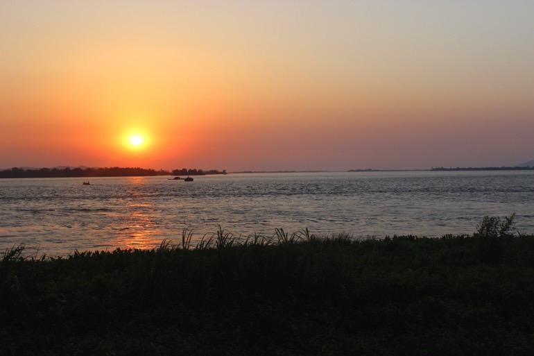 sunset Ogre Island Mawlamyine Myanmar