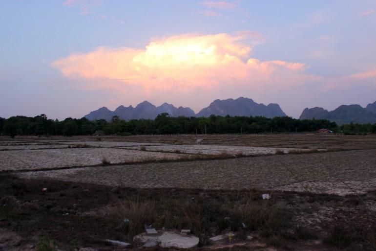 sunset Hpa-An Myanmar