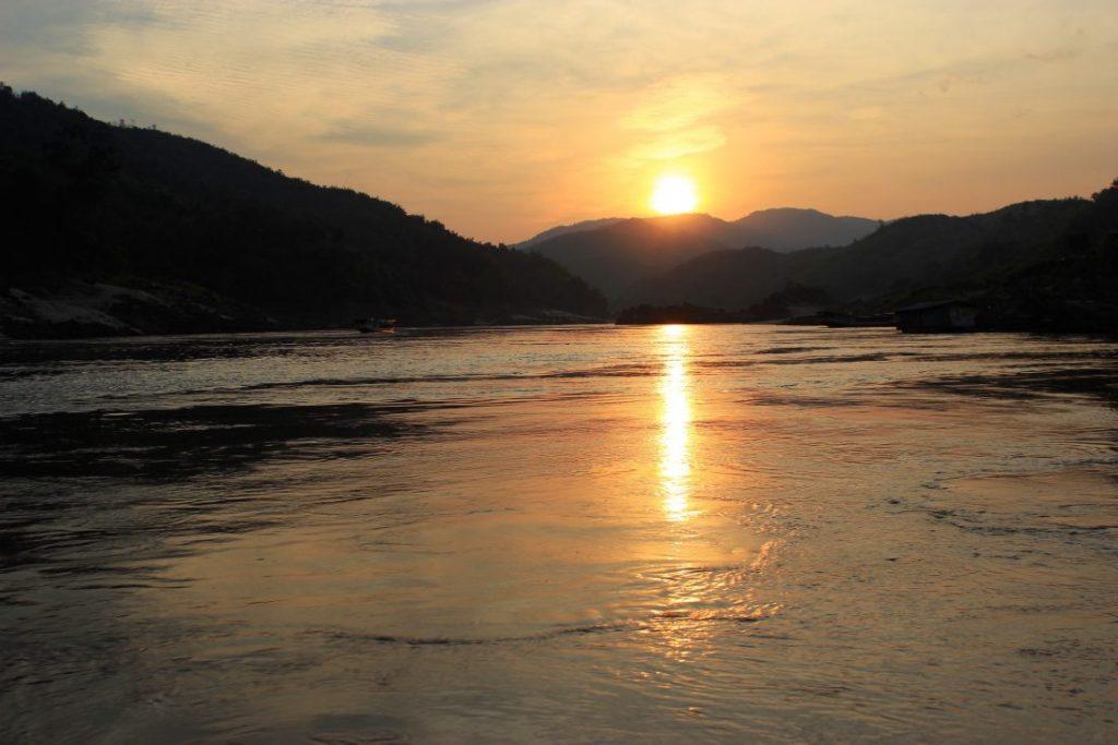 Pak Beng sunset Laos