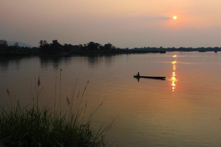 sunset Four Thousand Island Laos