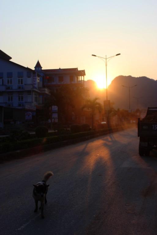 sunset Phong-Na Vietnam