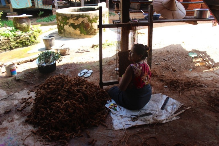 Bilu Kyun Ogre Island Myanmar Mawlamyine Handmade Coconut Fibre Doormat