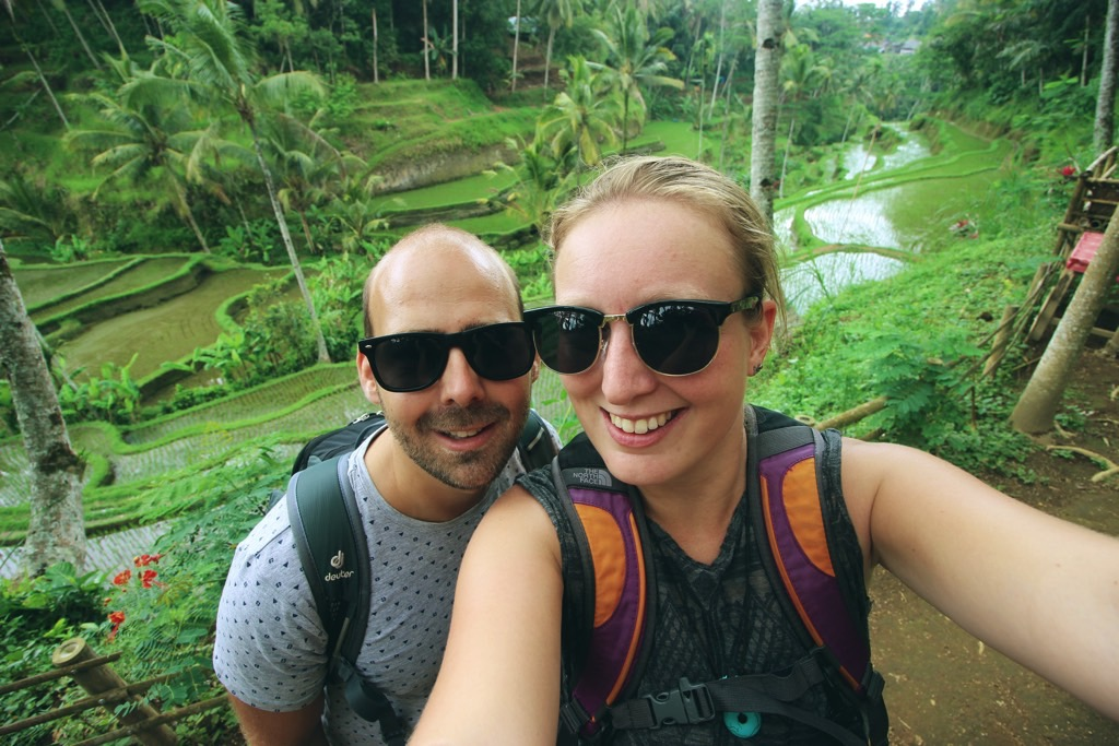 Travel together rice fields rijstvelden