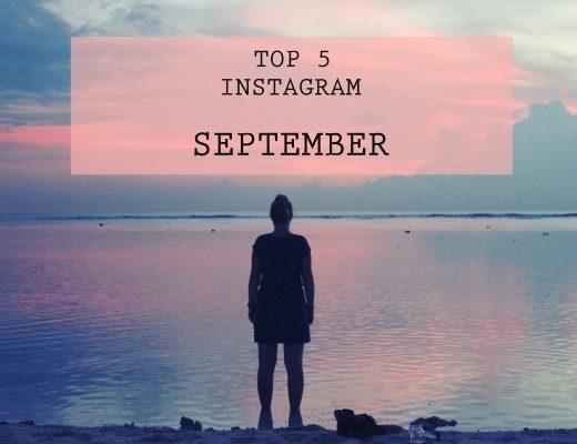 Instagram top 5 September My Travel Journal
