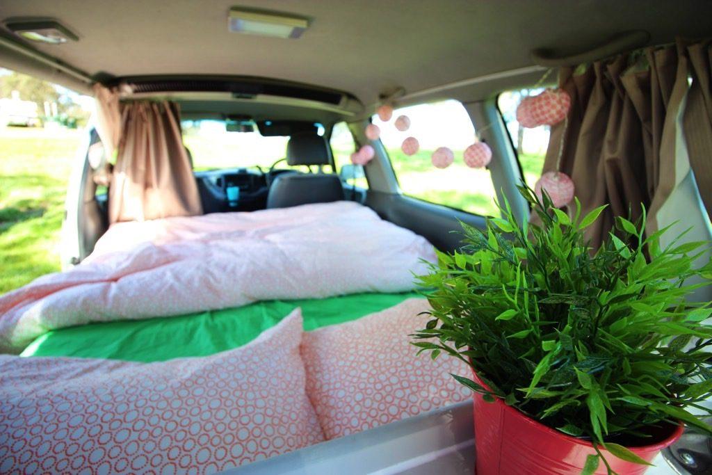 Sleeping minivan