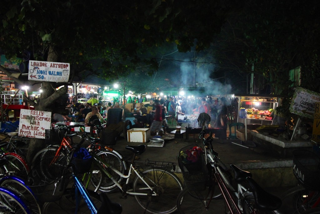 Night market Gili Trawangan