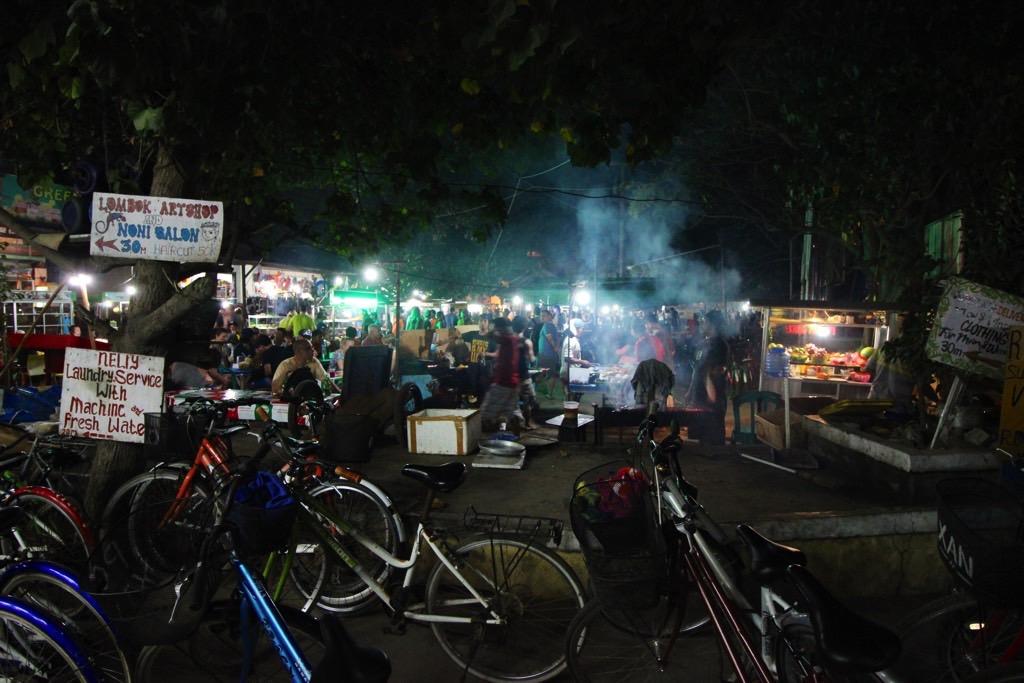 Night market Gili Trawangan