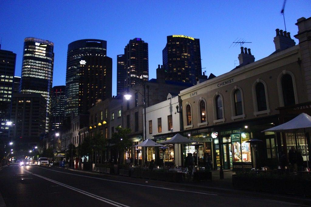 The Rocks Sydney by night