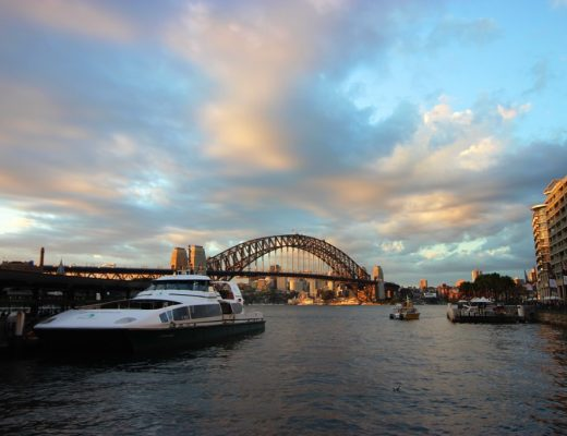Sydney Harbour Bridge sunset