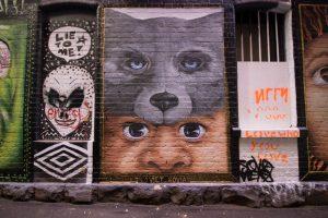 graffiti lanes in Melbourne   street art