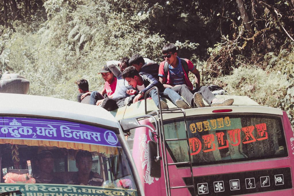 Bus | Nepal | Nepali | Locals | Ghandruk | Nayapul
