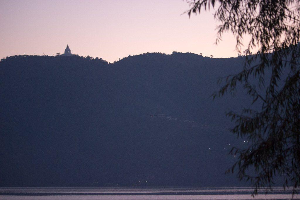 World Peace Pagona   Pokhara   Sunset   Phewa Lake   Nepal