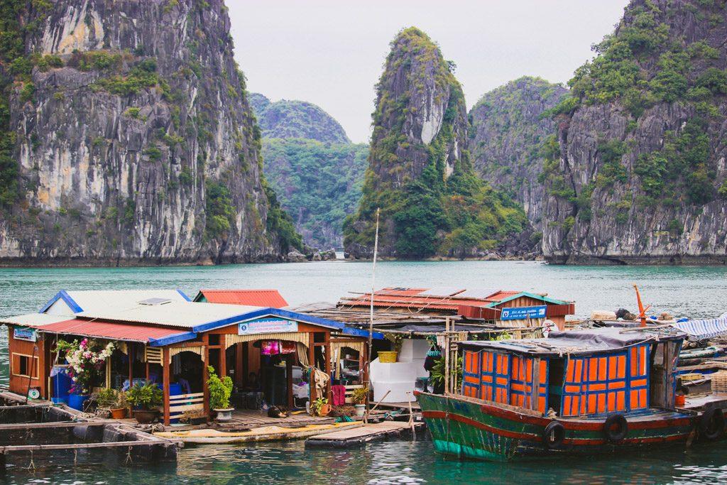 Floating | Fishing | Village | Halong Bay | Cat Ba Island | Vietnam