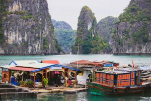 Floating | Fishing | Village | Halong Bay | Cat Ba Island | Vietnam