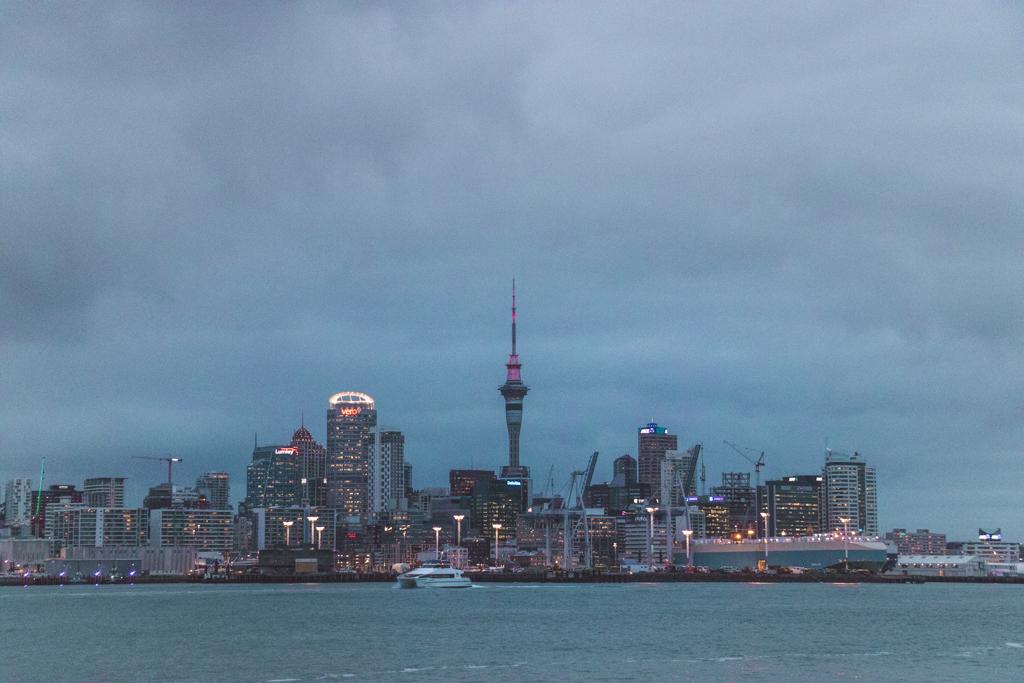 Auckland CBD | Skyline | Zonsondergang | Nieuw-Zeeland