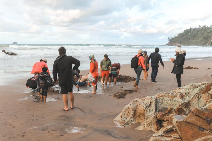 Hot Water Beach | Coromandel Peninsula | Nieuw-Zeeland | Noordereiland | Hot spring