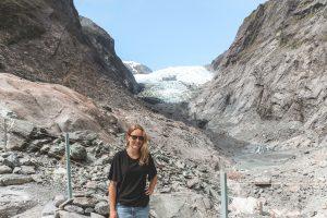 Bij de Franz Josef Glacier op het Zuidereiland van Nieuw-Zeeland