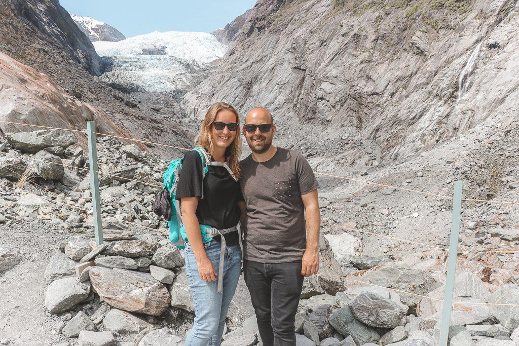 Samen bij de Franz Josef Glacier