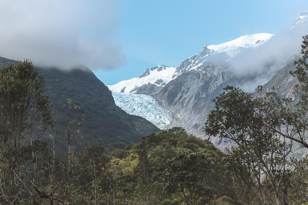 De Franz Josef Glacier van afstand