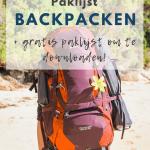 Rood-paarse backpack op rug op strand.