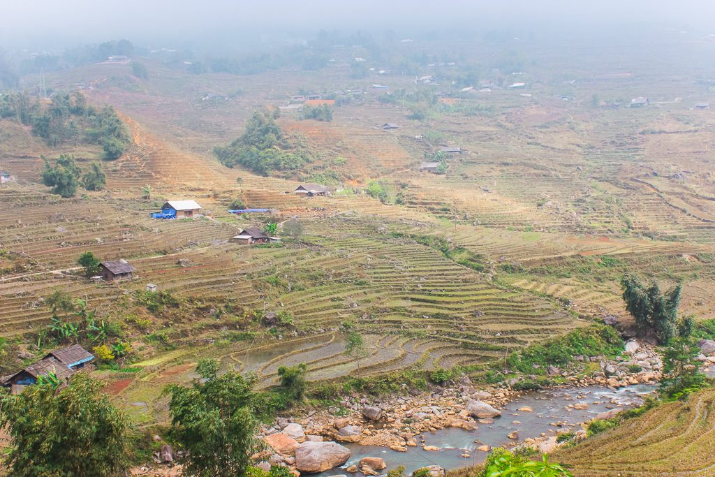 The ricefields of Sapa in Vietnam