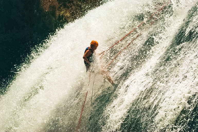 Canyoning in Dalat in Vietnam is famous with backpackers and a thrilling thing to do.