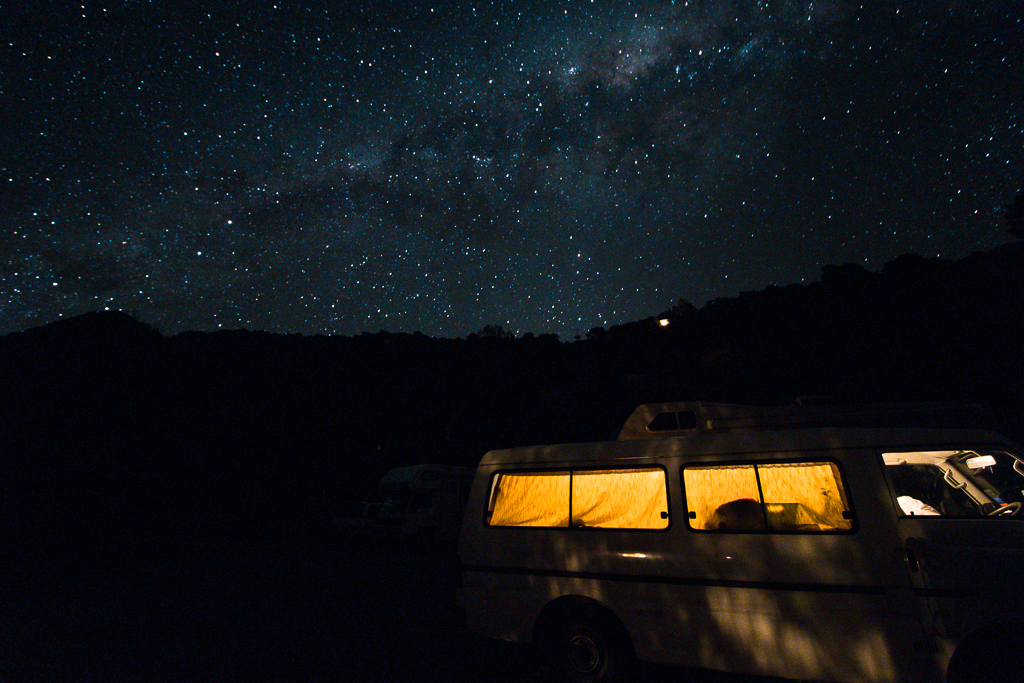 You can do Stargazing in New Zealand next to your own van