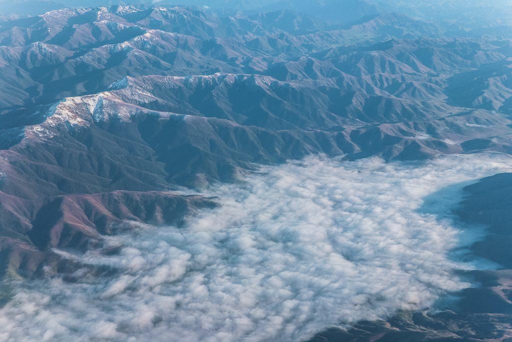 Nieuw-Zeeland vanuit de lucht gezien