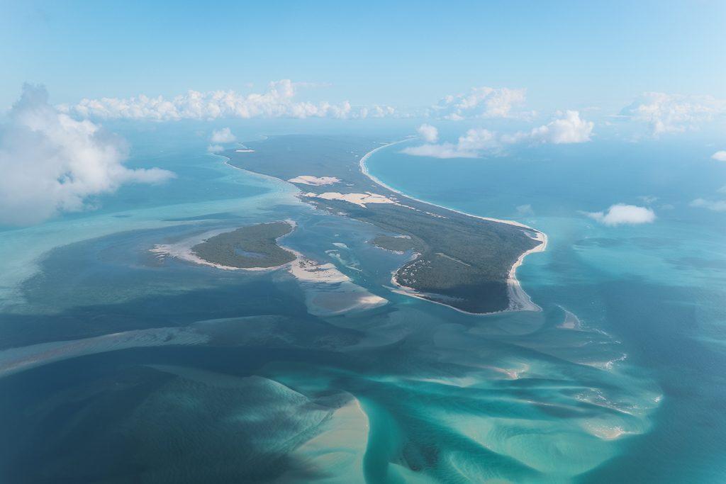 Moreton Island in Australië vanuit de lucht
