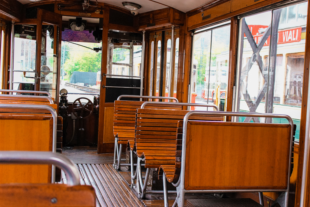 The historical trolley between Sassi and Superga