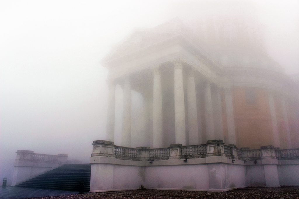 The Basilica di Superga when it's foggy as hell.