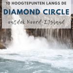 Krachtige waterval in IJsland
