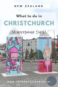 Creative art on street in Christchurch