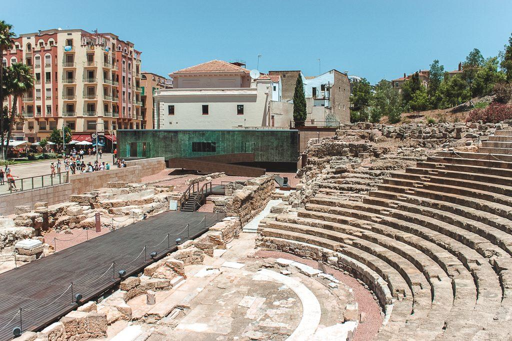 Historisch Romeins theater in Málaga gezien tijdens stedentrip Málaga.