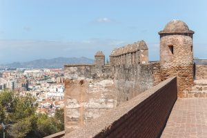 Kasteel Málaga met uitzicht over de stad tijdens stedentrip Málaga.