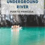 Boot die over ondergrondse rivier naar grot vaart.