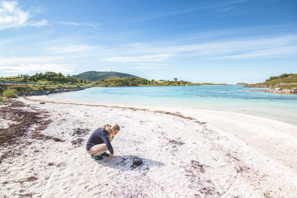 Wit strand in Sommarøy
