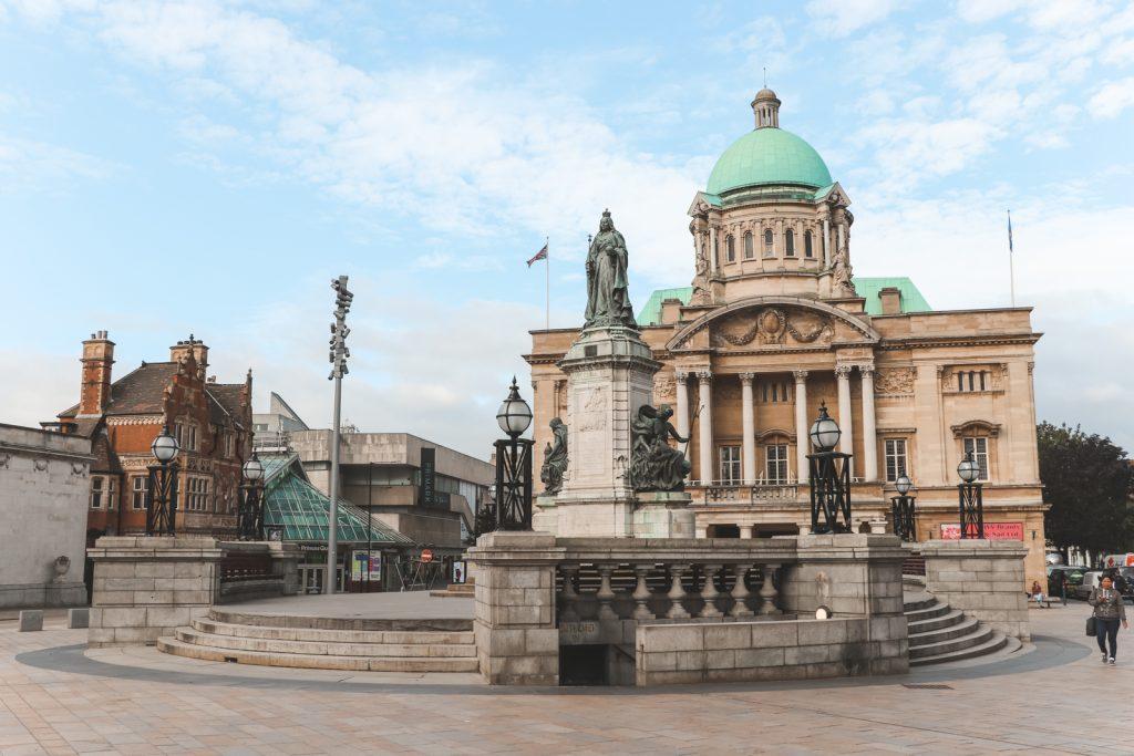 Het Victoriaanse Town Hall in Hull