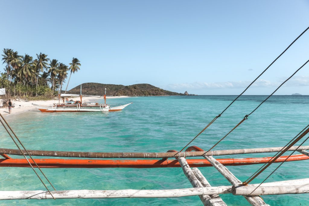 Magransing eiland vanaf houten boot