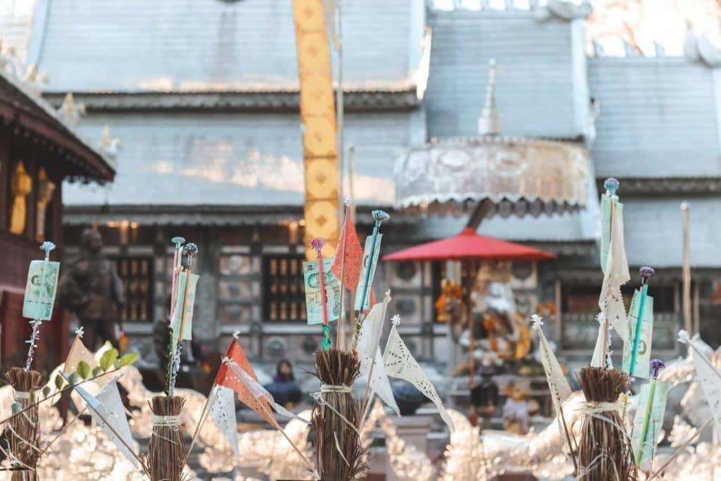 Zilveren tempel in Chiang Mai: Wat Sri Suphan