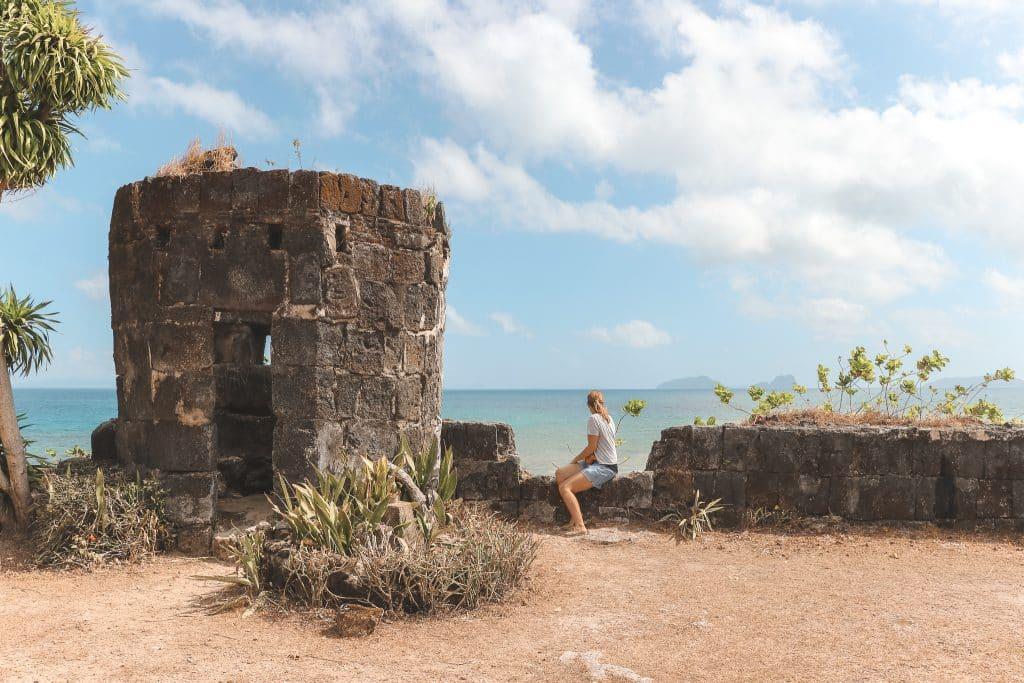 Spaans fort in Taytay aan oceaan