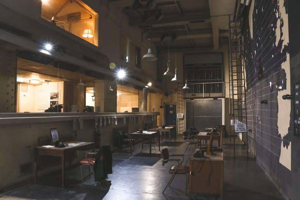 Interieur uit WOII in bunker in Liverpool