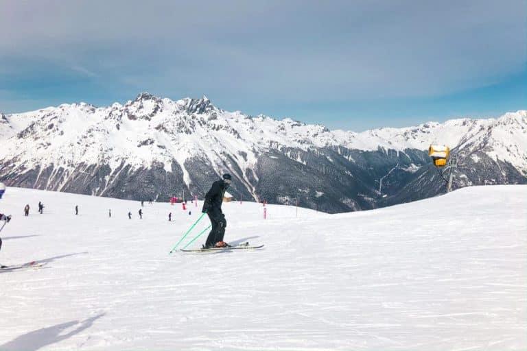 Skiën in Alpe d'Huez in Frankrijk