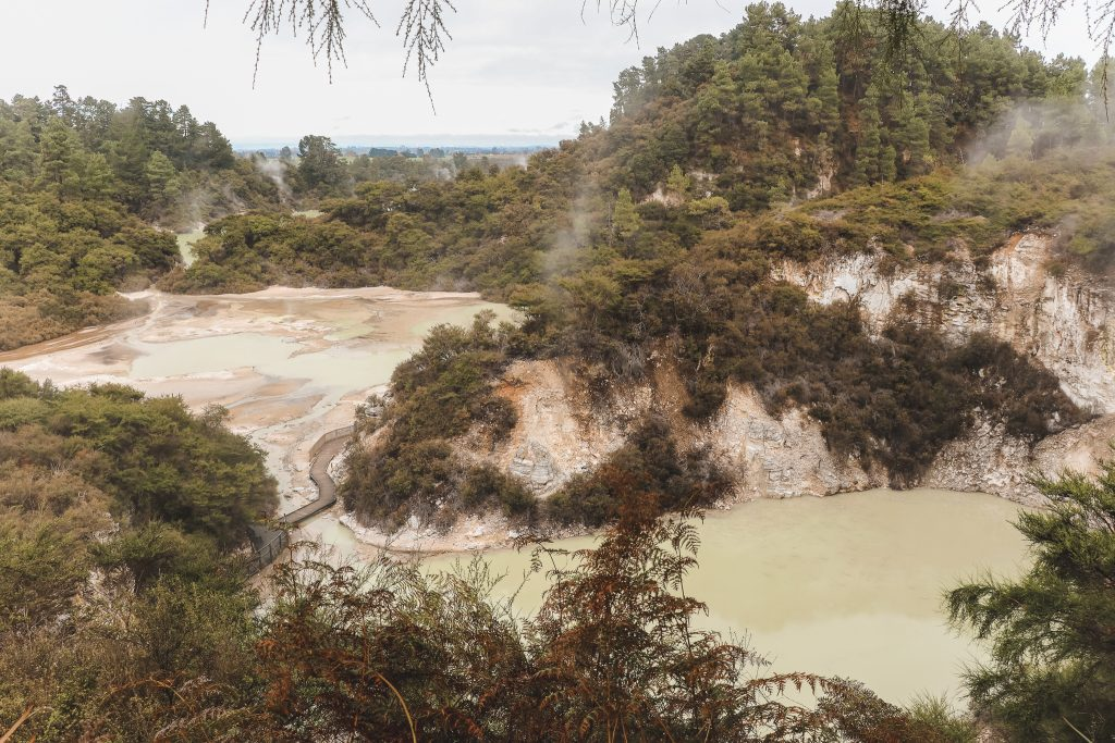 Meren in Wai-O-Tapu Geothermisch park