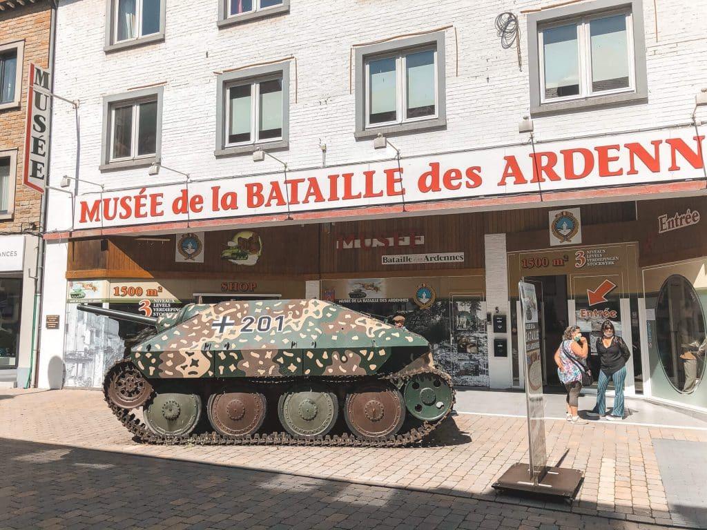 Tank voor Museum Slag om de Ardennen